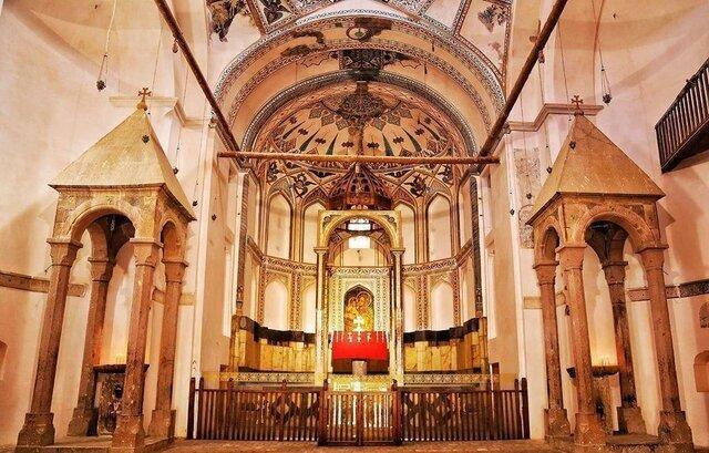 نقش و نگارهای کلیسای سنت استپانوس مرمت شد