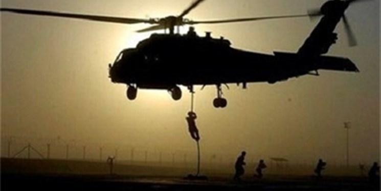 هلی برن عناصر داعش توسط هواپیماهای ناشناس به صلاح الدین عراق