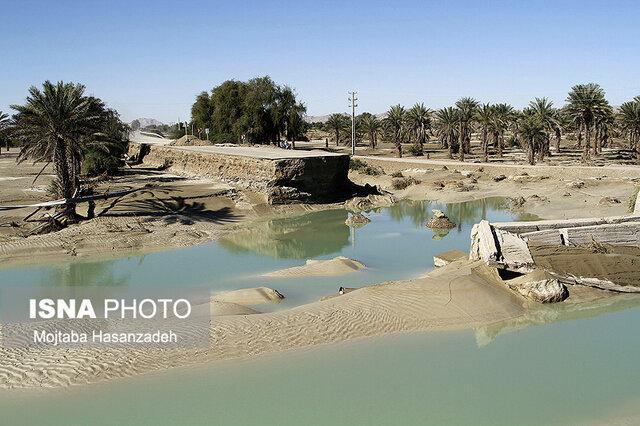 احتمال سیلابی شدن موقتی رودخانه های فصلی در بشاگرد