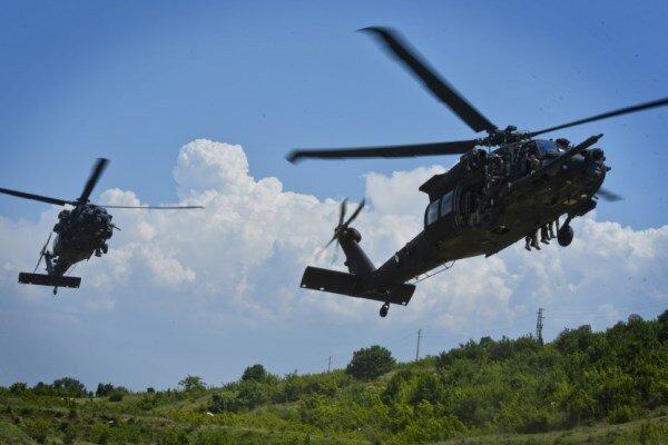سقوط بالگرد نظامی آمریکا با 2 کشته و 3 زخمی