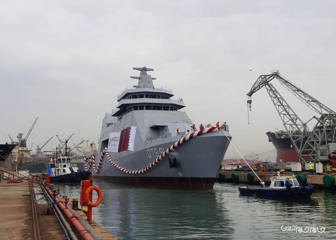 دومین شناور قطری در ترکیه به آب افتاد
