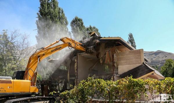 تخریب 43 ویلای میلیاردی در خوشنام ملارد تهران