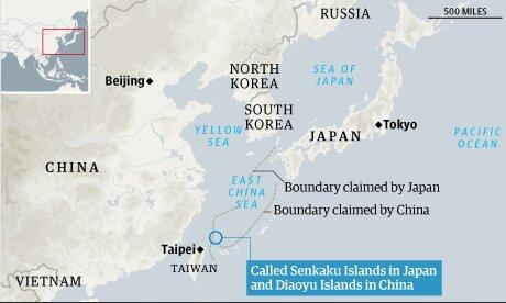 ورود ناوهای چینی به آب های منطقه ای ژاپن