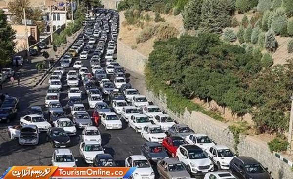 هجوم گردشگران به مازندران و ترافیک سنگین جاده ها