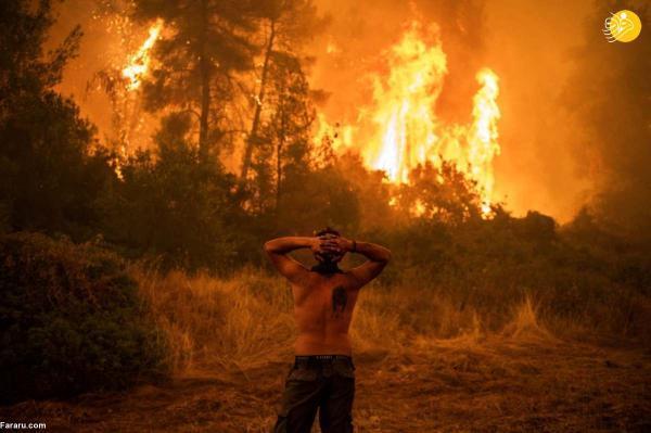 ادامه آتش سوزی گسترده در یونان