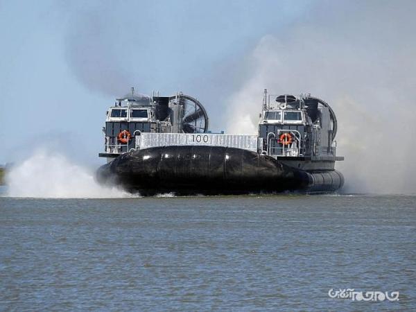 هاورکرافت نو نیروی دریایی ایالات متحده با توان حمل تانک های سنگین و 180 سرباز